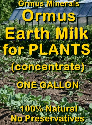 Ormus Minerals -Ormus Earth Milk for Plants (concentrate)